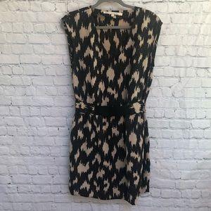 Rachel Rachel Roy Brown Black Print Dress